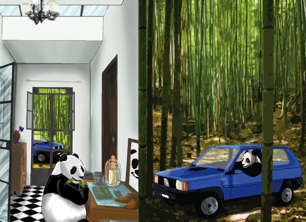 "TMA Sketchbook Maxi ""Panda nella Panda"""