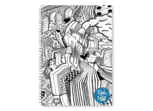 """TMA Quaderno Spirale A4 Quadretti """"L'Impegno"""""""