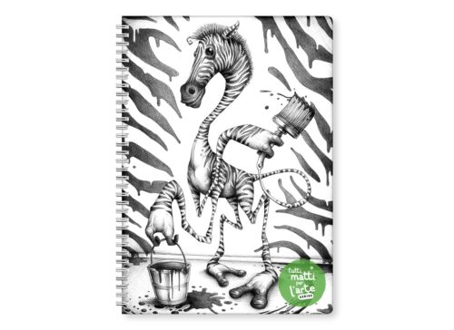 "TMA Quaderno Spirale A4 Righe ""Zebra"""