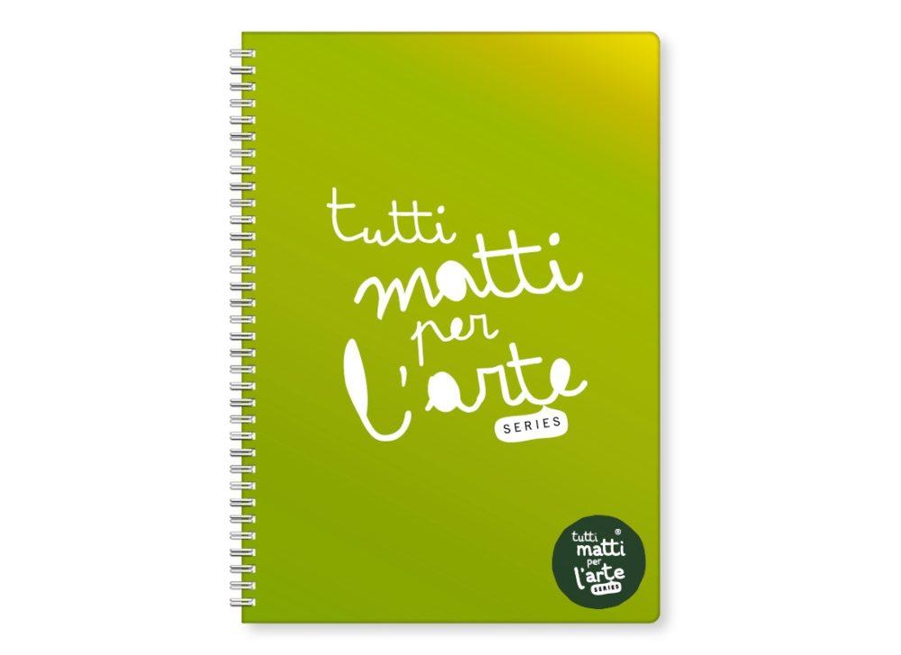 """TMA Quaderno Spirale A4 Quadretti """"Verde"""""""