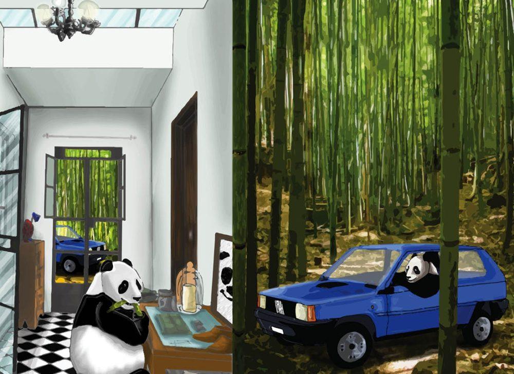 """TMA Agenda Annuale Settimanale Grande """"Panda nella Panda"""""""