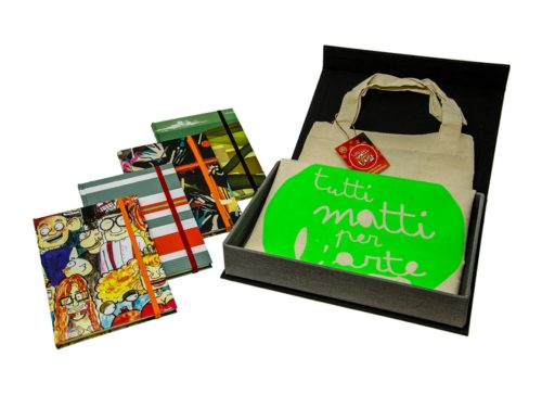 TMA Kit1 Idea Regalo Sketchbook + Shopper + Confezione Tela Calamitata