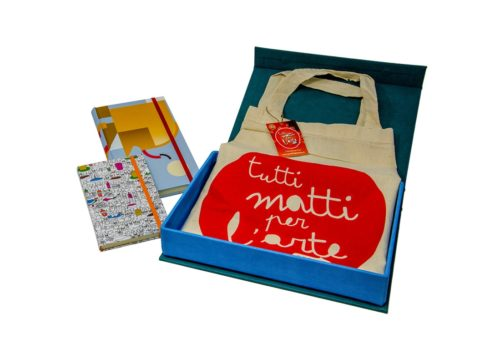 TMA Kit3 Idea Regalo Sketchbook + Shopper + Confezione Tela Calamitata