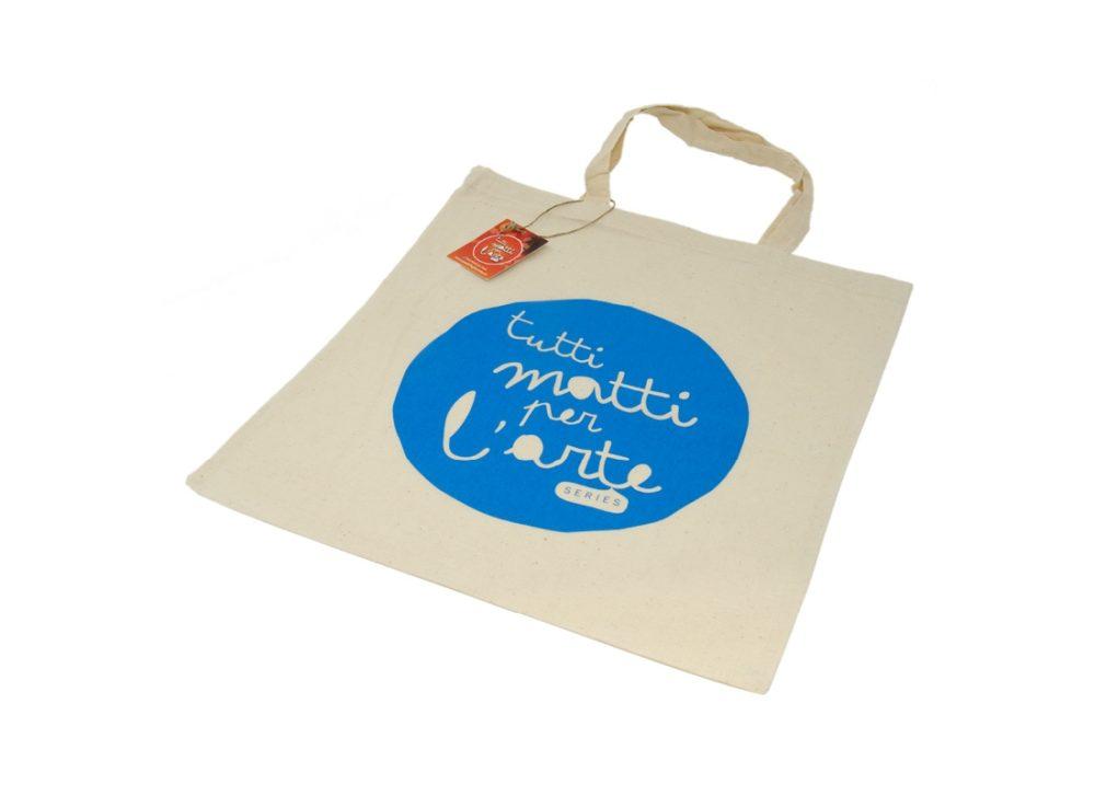 """TMA Shopper in Cotone """"TMA"""" Celeste"""