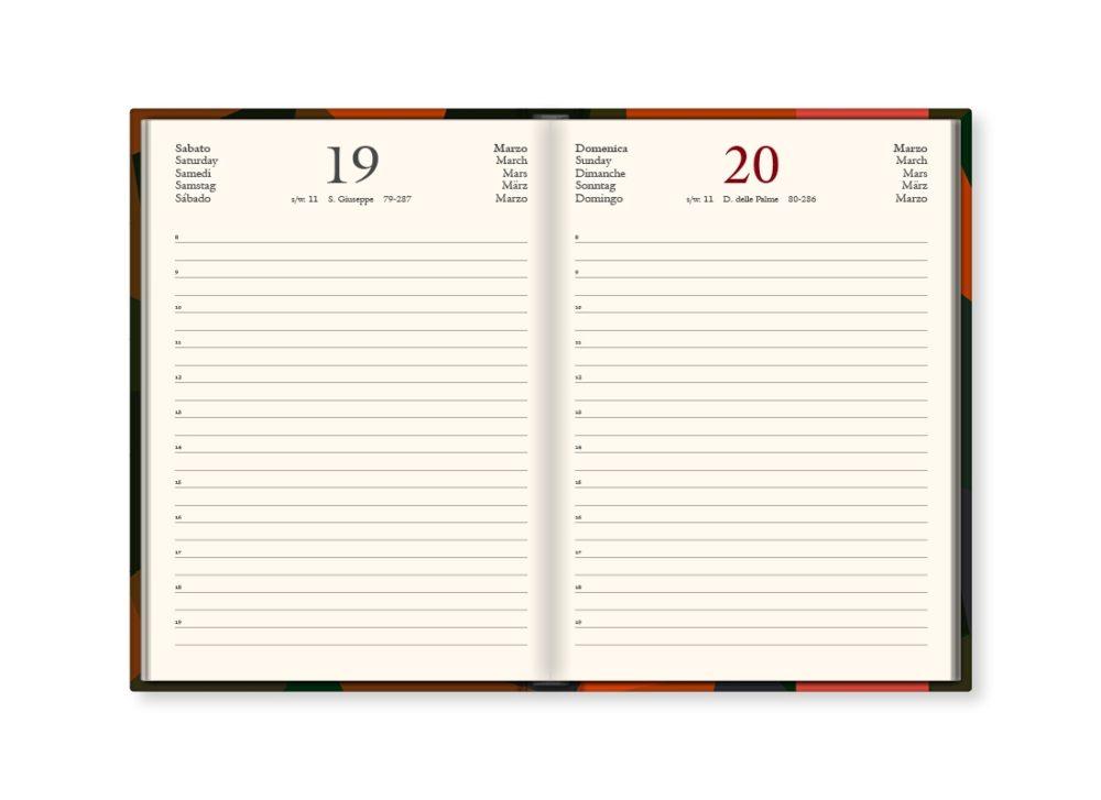 """TMA Agenda Annuale Giornaliera Media """"FR-Design2"""""""
