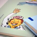 sketchbook righe retro dettaglio tutti matti arte makkox 60 coop amiatina
